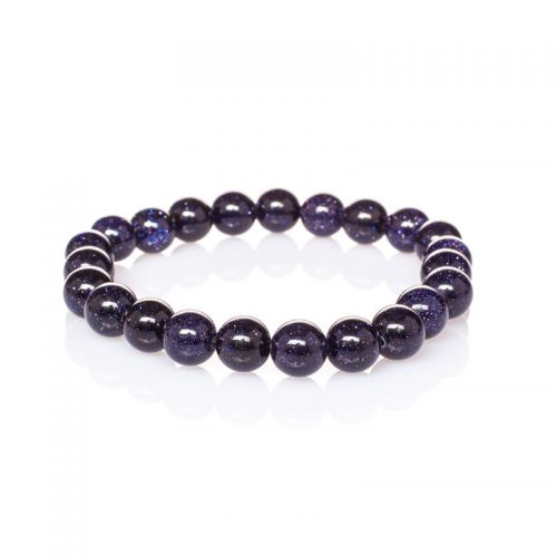 Guides-And-Angels-energy-Beads-Bracelet-Blue-Goldstone