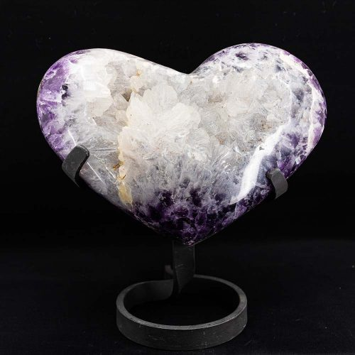 Guides and Angels Amethyst with Agate Heart